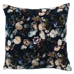CUSHION COVER 45X45CM FLORA MIDNIGHT