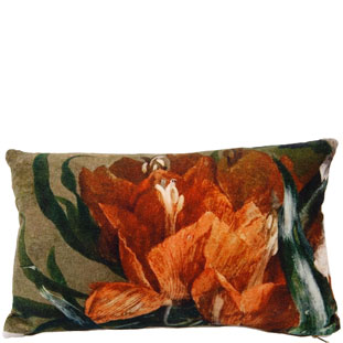 CUSHION COVER 30X50CM IRIS ORANGE