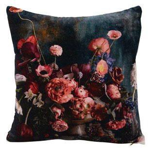 CUSHION COVER FLORRIE 45X45CM MIDNIGHT