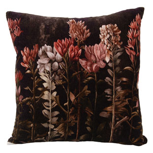 CUSHION COVER FLORALS 45X45CM BROWN
