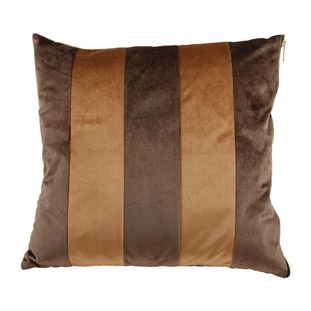 CUSHION COVER CHAMI STRIPED 45X45CM BROWN/CAMEL