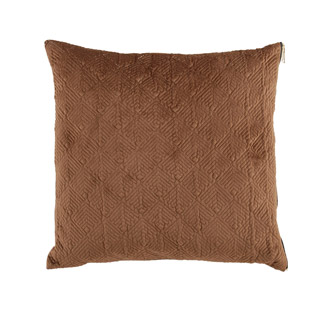 CUSHION COVER MASON QUILTED 45X45CM LIGHT BROWN