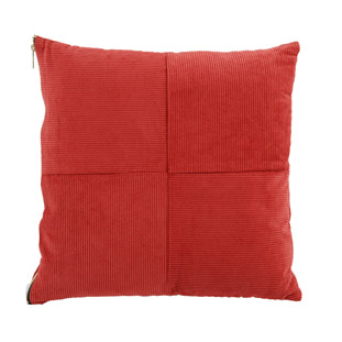 CUSHION COVER MANCHESTER 45X45CM RED