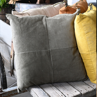 CUSHION COVER MANCHESTER 45X45CM GREY