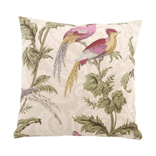 CUSHION COVER 45X45CM VINTAGE BIRD