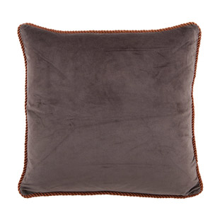 CUSHION COVER ADINE 45X45CM DARK BROWN