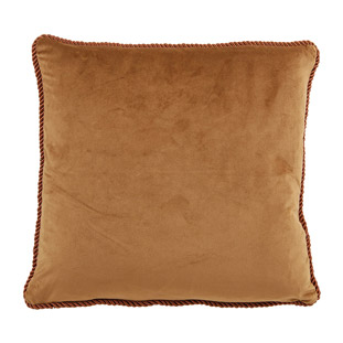 CUSHION COVER ADINE 45X45CM LIGHT BROWN