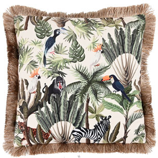 CUSHION COVER TROPICAL 45X45CM