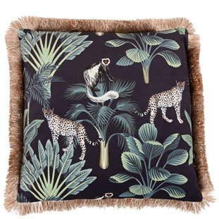 CUSHION COVER MONKEYS 45X45CM
