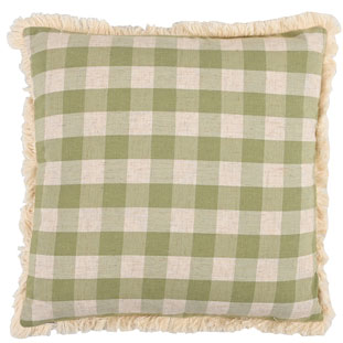 CUSHION COVER CHECKLAND 45X45CM GREEN