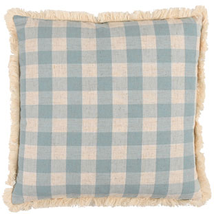 CUSHION COVER CHECKLAND 45X45CM BLUE