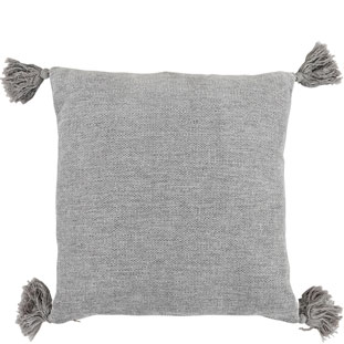 CUSHION COVER TASSLE 45X45CM GREY