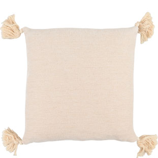CUSHION COVER TASSLE 45X45CM BEIGE