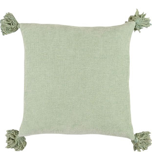 CUSHION COVER TASSLE 45X45CM MINT