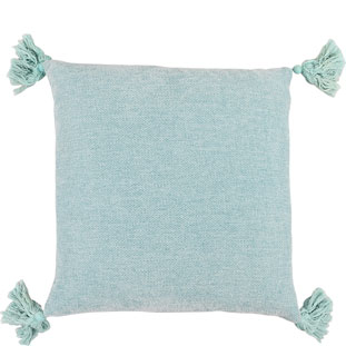 CUSHION COVER TASSLE 45X45CM TURQUOISE
