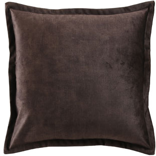CUSHION COVER ALEGRA 50X50CM DARK BROWN