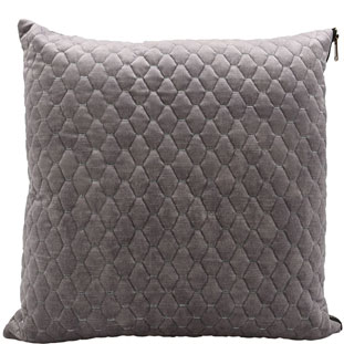 CUSHION COVER ALEGRA QUILTED 45X45CM LIGHT GREY