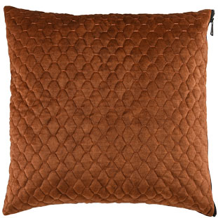 CUSHION COVER ALEGRA QUILTED 45X45CM BRONZE