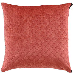 CUSHION COVER ALEGRA QUILTED 45X45CM RED