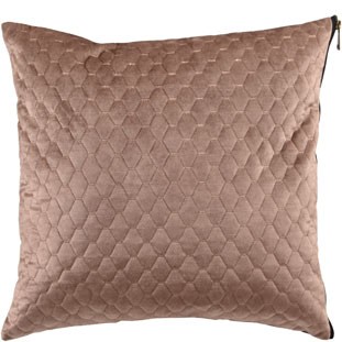 CUSHION COVER ALEGRA QUILTED 45X45CM LIGHT BROWN