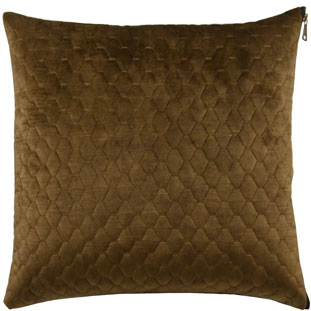 CUSHION COVER ALEGRA QUILTED 45X45CM MOSS GREEN