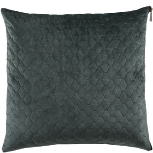 CUSHION COVER ALEGRA QUILTED 45X45CM GREEN