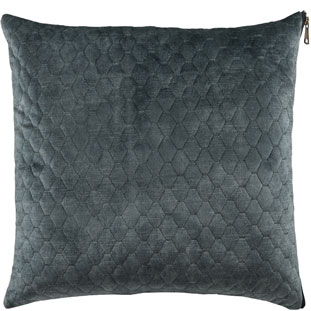 CUSHION COVER ALEGRA QUILTED 45X45CM BLUE