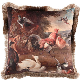 CUSHION COVER HICKORY 45X45CM