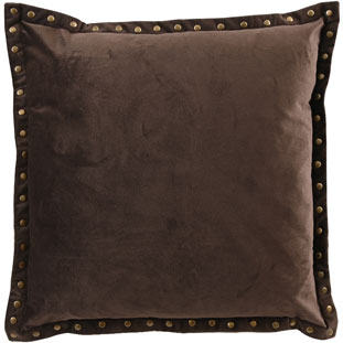 CUSHION COVER LEVI 45X45CM BROWN