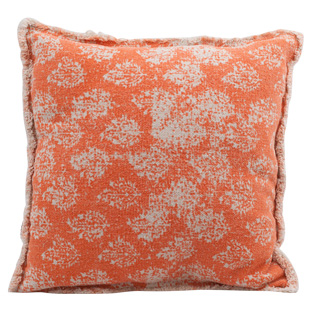 CUSHION COVER CANVAS ORANGEPRINT 50x50