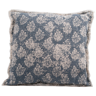 CUSHION COVER CANVAS BLUE PRINT 50x50