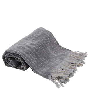 THROW SILIVA 130X170CM GREY