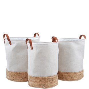 LAUNDRY BASKET CORKY SET OF 3