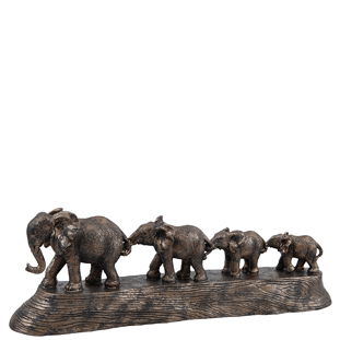 DECORATION WALKING ELEPHANT FAMILY