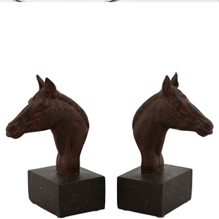 BOOKEND HORSE JACKPOT 2/SET