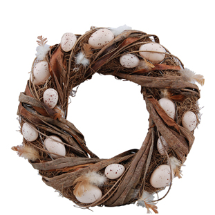WREATH NATURAL EGGS LARGE