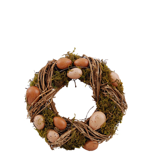 WREATH BROWN EGGS SMALL