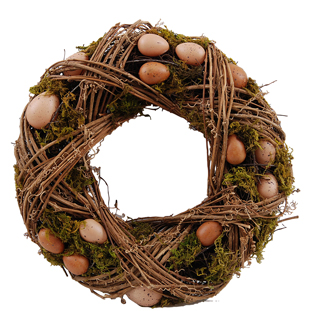 WREATH BROWN EGGS LARGE