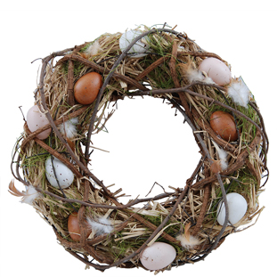 WREATH MIXED EGGS LARGE