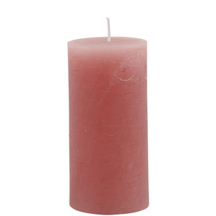 CANDLE 6X12CM LIGHT PINK 46HR