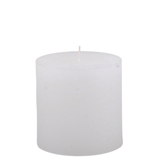 CANDLE 10X10CM WHITE