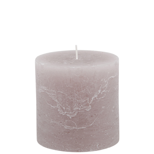 CANDLE 10X10CM TAUPE  64HR