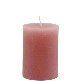 CANDLE 7X10 CM LIGHT PINK