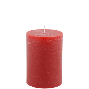 CANDLE 7X10CM RED