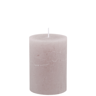 CANDLE 7X10CM TAUPE 40HR