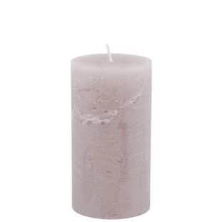 CANDLE 7X13CM TAUPE 52HR