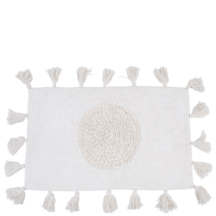BATHMAT FRINGES WHITE