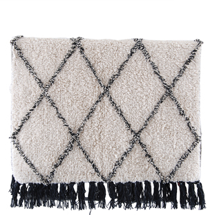BATHMAT MENDY 50X80 BEIGE/BLACK