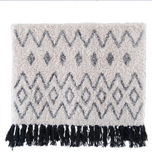 BATHMAT WAVES 50X80CM BEIGE/BLACK