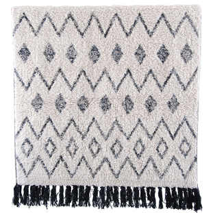 BATHMAT WAVES 70X140CM BEIGE/BLACK